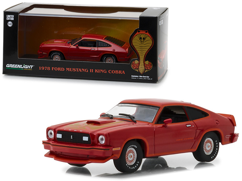 1978 Ford Mustang Cobra II Red 1/43 Diecast Model Car Greenlight 86321