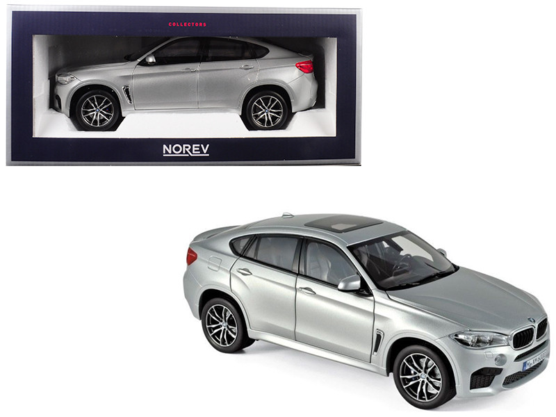 2015 BMW X6 M Silver Metallic 1/18 Diecast Model Car Norev 183200