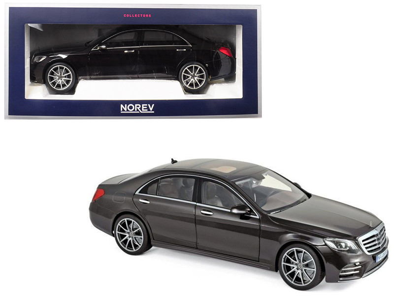 2018 Mercedes Benz S Class AMG Line Ruby Black Metallic 1/18 Diecast Model Car Norev 183483