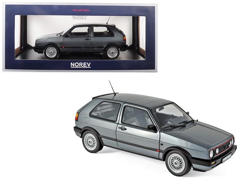 1990 Volkswagen Golf II GTI Grey Metallic 1/18 Diecast Model Car Norev 188442