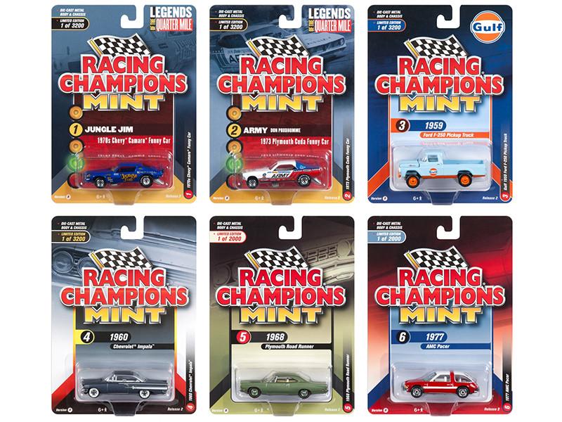 2018 Mint Release 2 Set A 6 Cars 1/64 Diecast Models Racing Champions RC008 A