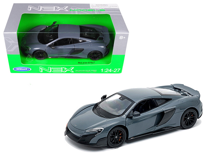 McLaren 675LT Coupe Gray 1/24 1/27 Diecast Model Car Welly 24089