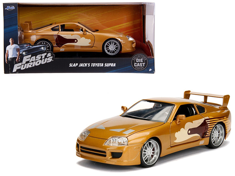 Slap Jack's Toyota Supra Gold Fast Furious Movie 1/24 Diecast Model Car Jada 99540