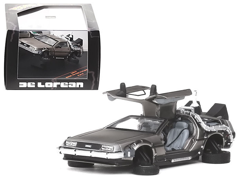 DeLorean Flying Version Back To The Future II 1989 Movie 1/43 Diecast Model Car Vitesse 24015