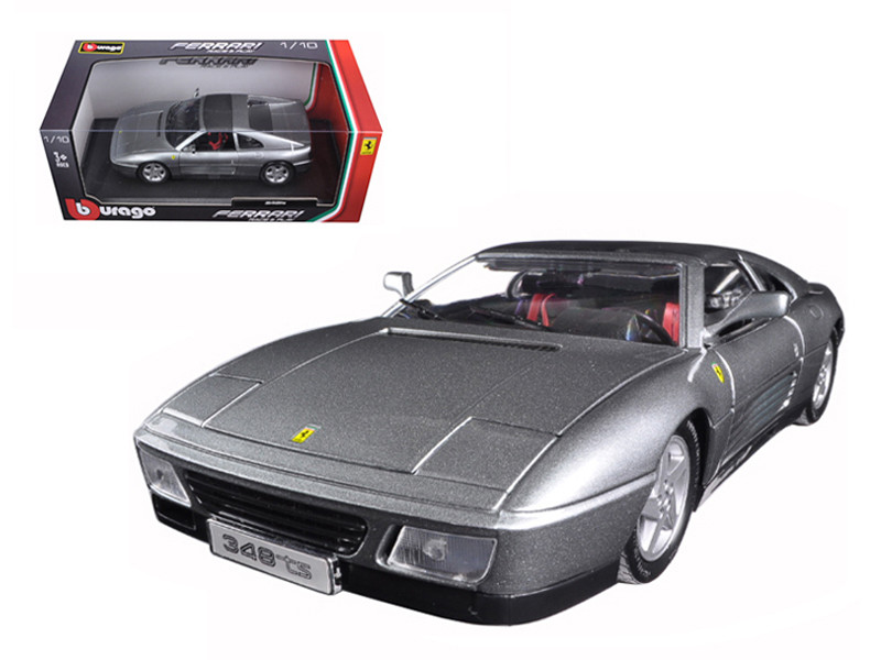 Ferrari 348 TS Grey 1/18 Diecast Model Car Bburago 16006