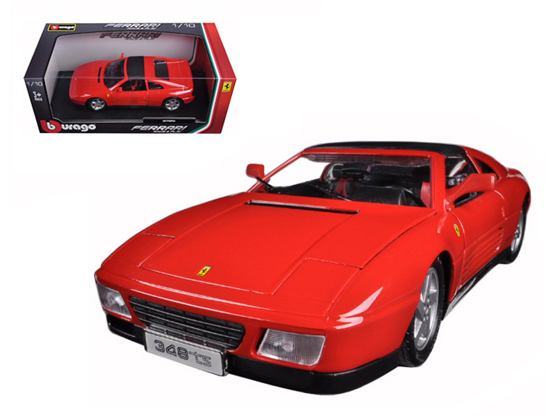 Ferrari 348 TS Red 1/18 Diecast Model Car Bburago 16006