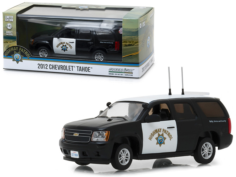 2012 Chevrolet Tahoe California Highway Patrol Black White 1/43 Diecast Model Car Greenlight 86098