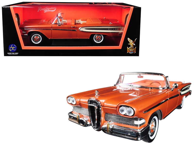 1958 Edsel Citation Convertible Brown 1/18 Diecast Model Car Road Signature 92298