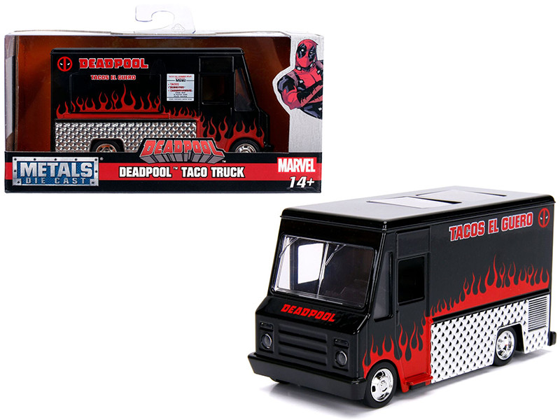 Deadpool Taco Truck Black Marvel Series 1/32 Diecast Model Jada 30864