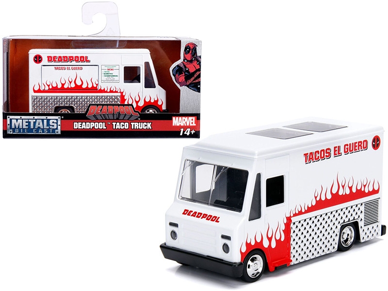 Deadpool Taco Truck White Marvel Series 1/32 Diecast Model Jada 99800
