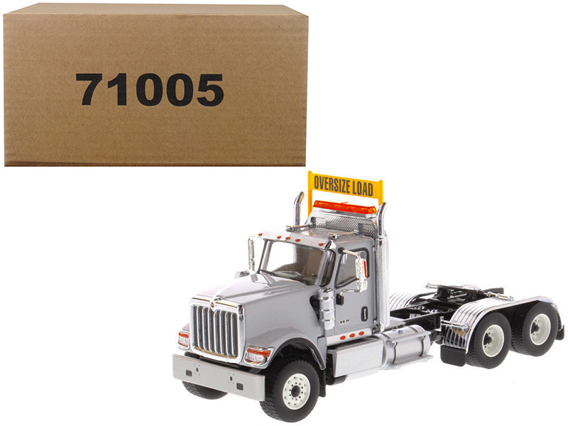 International HX520 Day Cab Tandem Tractor Light Grey 1/50 Diecast Model Diecast Masters 71005