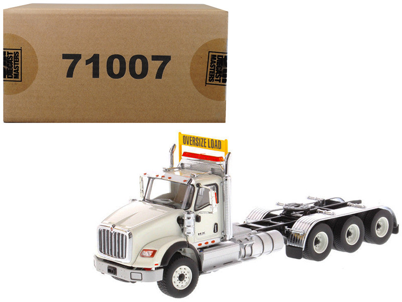 International HX620 Day Cab Tridem Tractor White 1/50 Diecast Model Diecast Masters 71007