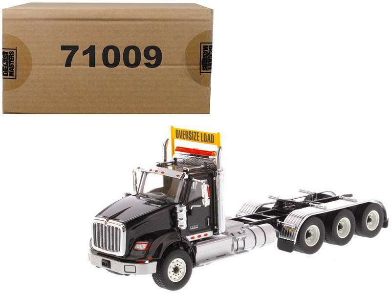 International HX620 Day Cab Tridem Tractor Black 1/50 Diecast Model Diecast Masters 71009