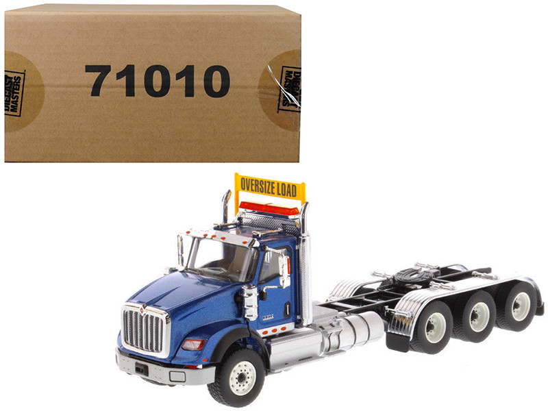 International HX620 Day Cab Tridem Tractor Blue 1/50 Diecast Model by Diecast Masters