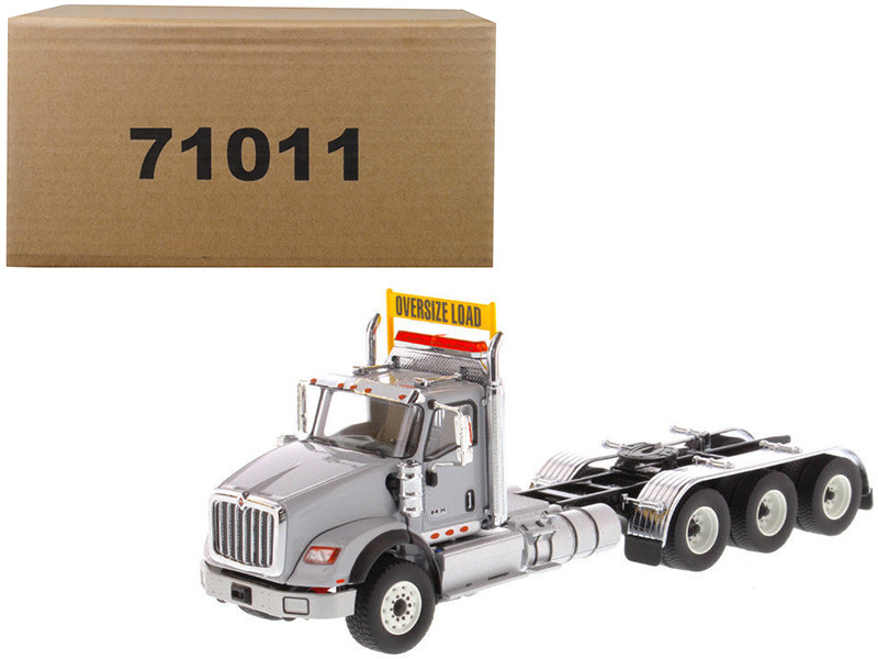 International HX620 Day Cab Tridem Tractor Light Grey 1/50 Diecast Model Diecast Masters 71011