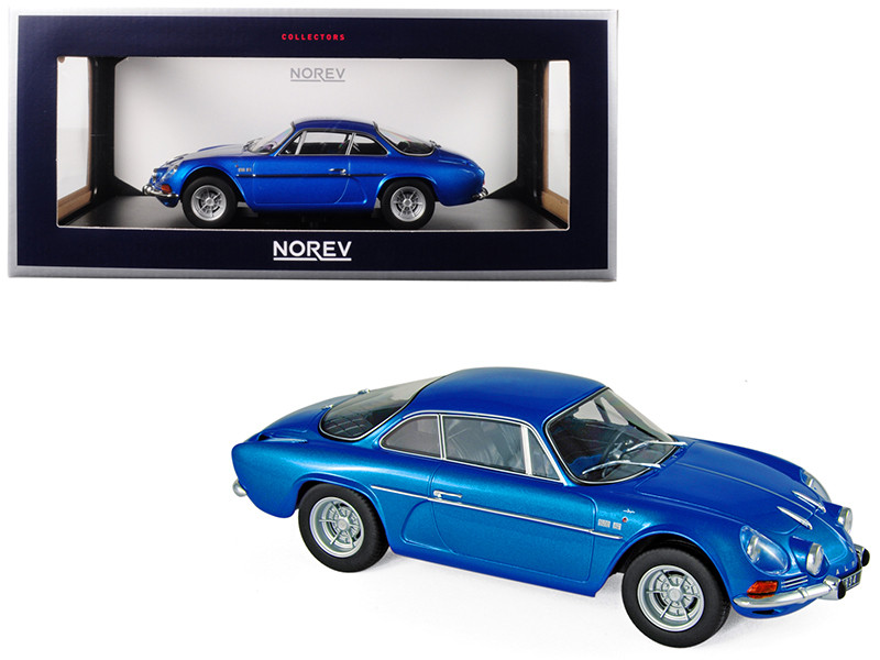 1971 Renault Alpine A110 1600S Metallic Blue 1/18 Diecast Model Car Norev 185300