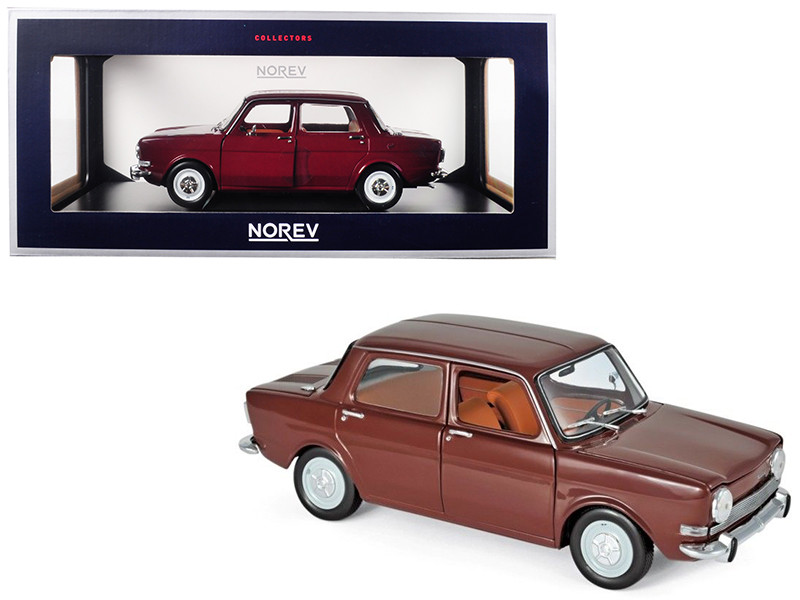 1974 Simca 1000 LS Amarante Red 1/18 Diecast Model Car Norev 185713