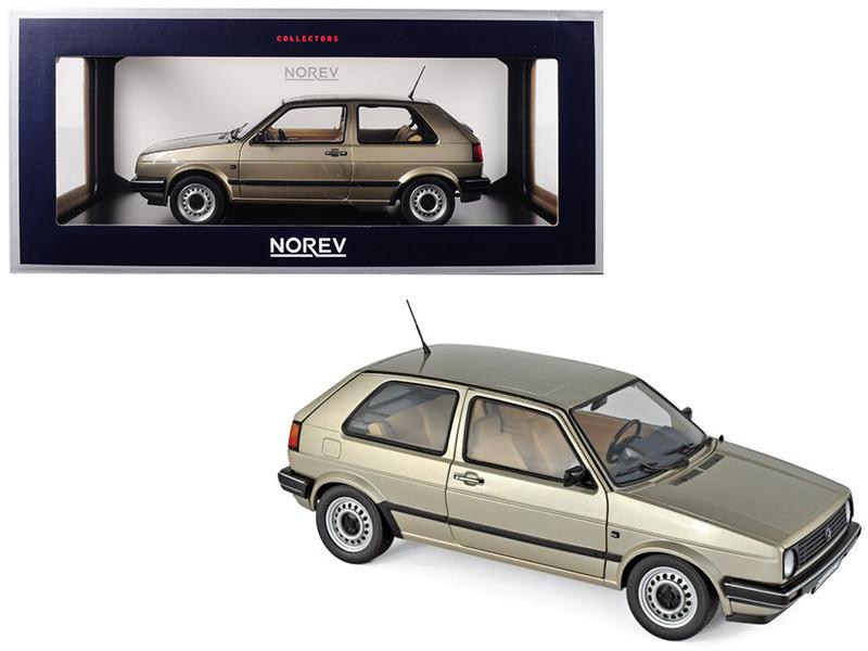 1988 Volkswagen Golf CL Metallic Beige 1/18 Diecast Model Car Norev 188519