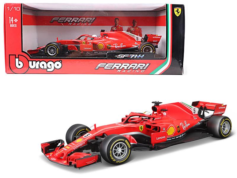 Ferrari Racing SF71H Formula 1 #5 Sebastian Vettel 1/18 Diecast Model Car Bburago 16806