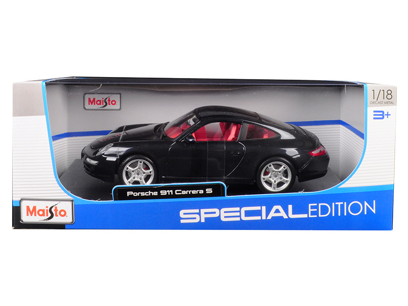 Porsche 911 Carrera S Metallic Bluish Gray Red Interior 1/18 Diecast Model Car Maisto 31692