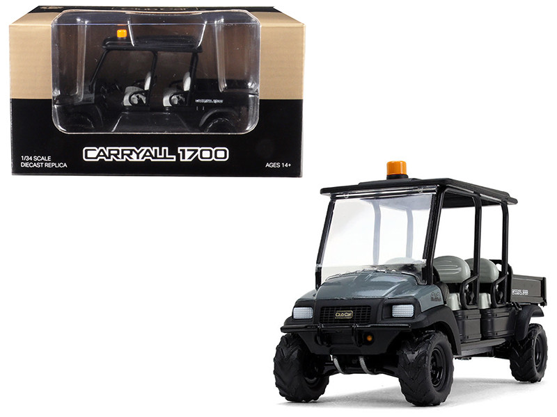 Club Car Carryall 1700 4x4 Tilting Box Dark Gray Black 1/34 Diecast Model First Gear 10-4157