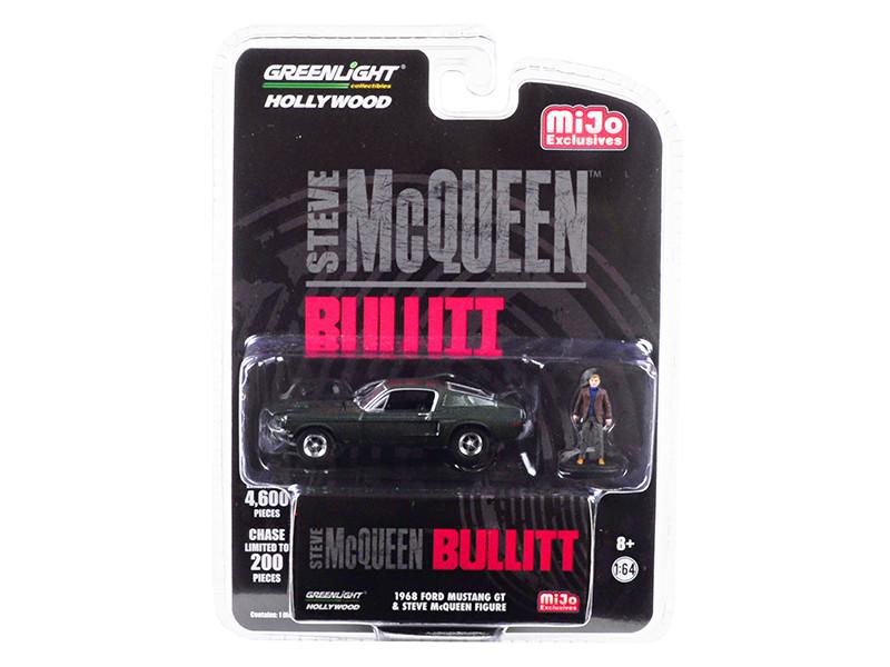 1968 Ford Mustang GT Green Figurine Bullitt 1968 Movie Limited Edition 4600 pieces Worldwide 1/64 Diecast Model Car Greenlight 51207