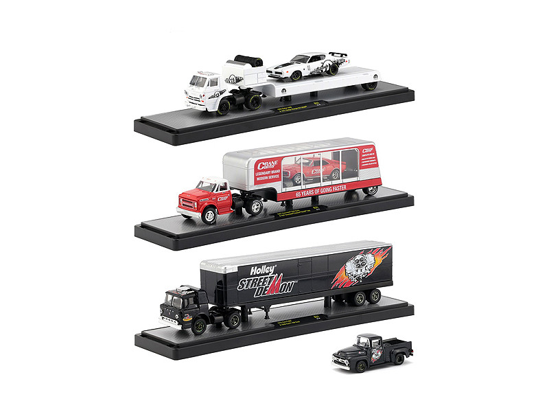 Auto Haulers Release 31 3 Trucks Set 1/64 Diecast Models M2 Machines 36000-31