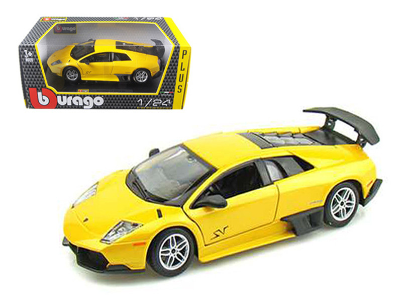 2010 Lamborghini Murcielago LP 670-4 SV Yellow 1/24 Diecast Model Car Bburago 21050