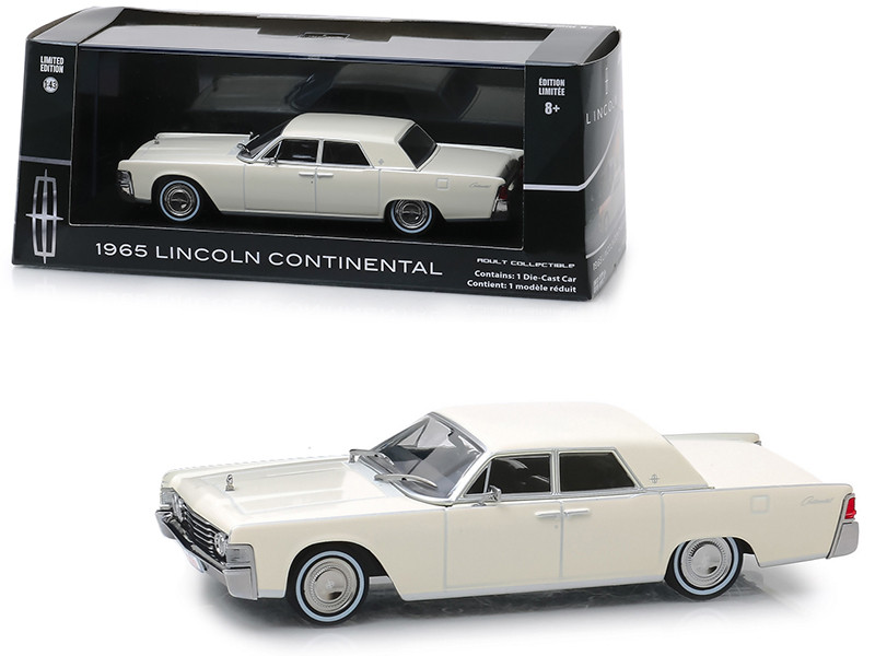 1965 Lincoln Continental Wimbledon White 1/43 Diecast Model Car Greenlight 86328