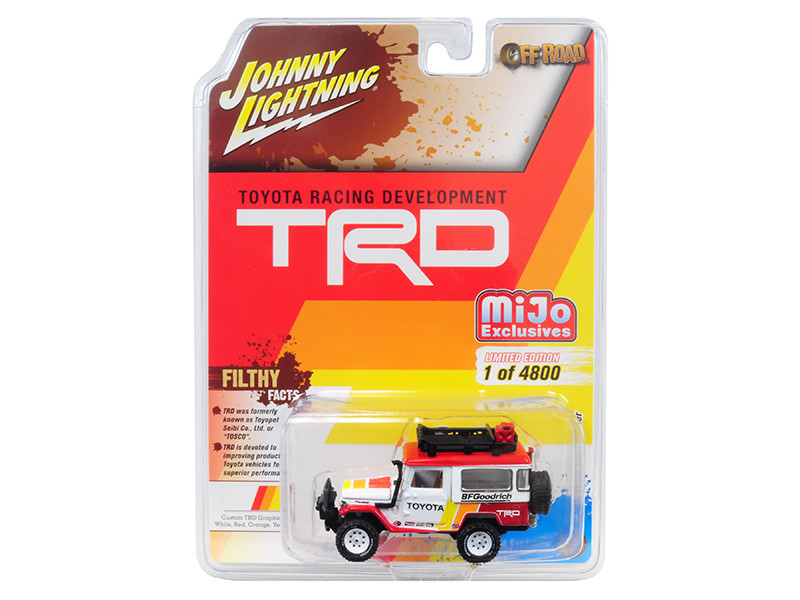 1980 Toyota Land Cruiser Accessories BFGoodrich Toyota Racing Development TRD Limited Edition 4800 pieces Worldwide 1/64 Diecast Model Car Johnny Lightning JLCP7149