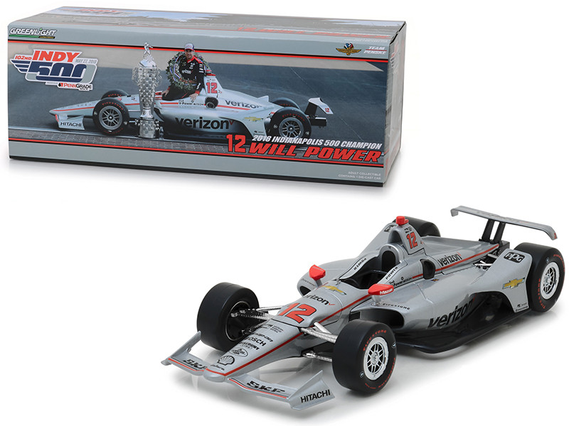 2018 IndyCar #12 Will Power Team Penske Verizon 2018 Indianapolis 500 Champion 1/18 Diecast Model Car Greenlight 11046