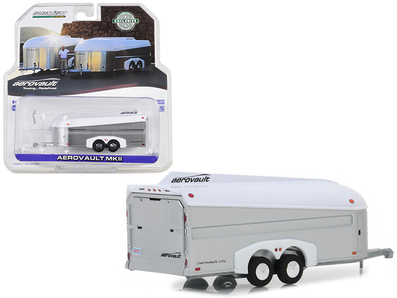 Aerovault MKII Trailer Silver White Top Hobby Exclusive 1/64 Diecast Model Greenlight 30008
