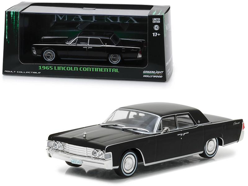 1965 Lincoln Continental Black The Matrix 1999 Movie 1/43 Diecast Model Car Greenlight 86512
