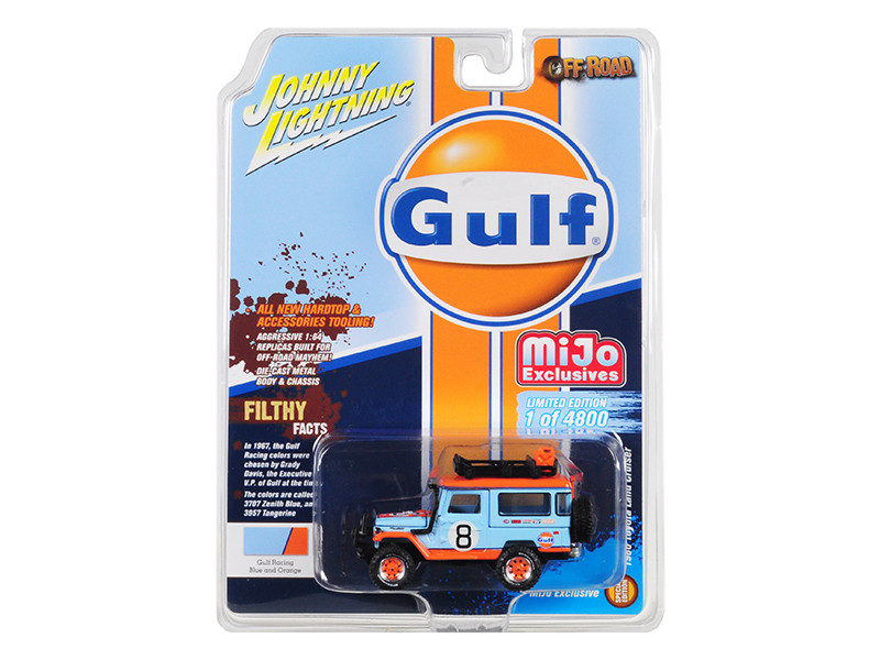 1980 Toyota Land Cruiser Accessories #8 Gulf Limited Edition 4800 pieces Worldwide 1/64 Diecast Model Car Johnny Lightning JLCP7147