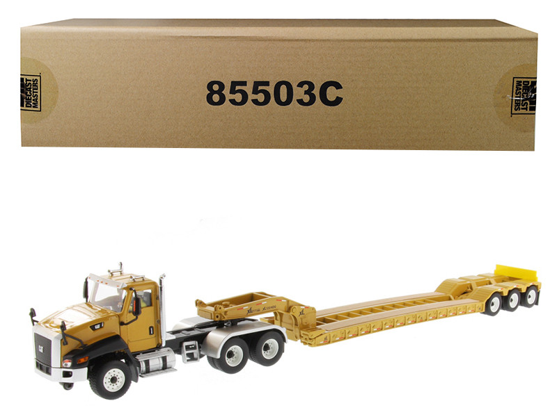 Cat Caterpillar CT660 Day Cab XL 120 Low-Profile HDG Lowboy Trailer Operator Core Classics Series 1/50 Diecast Model Diecast Masters 85503 C