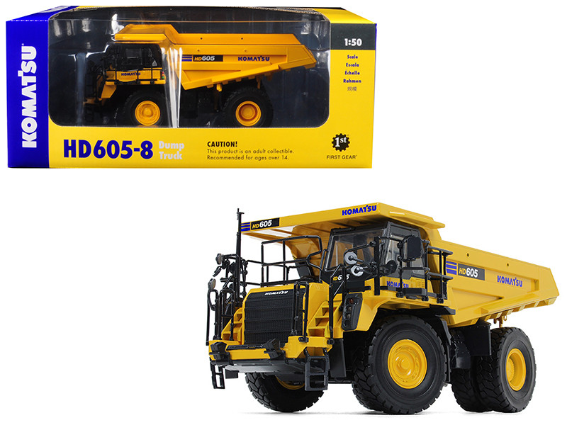 Komatsu HD605-8 Dump Truck 1/50 Diecast Model First Gear 50-3387