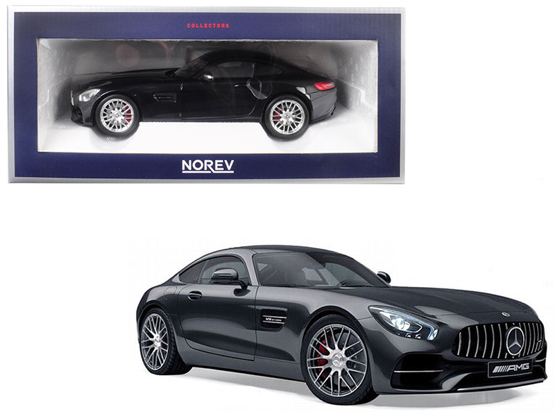 2018 Mercedes Benz AMG GT S Metallic Black 1/18 Diecast Model Car Norev 183497
