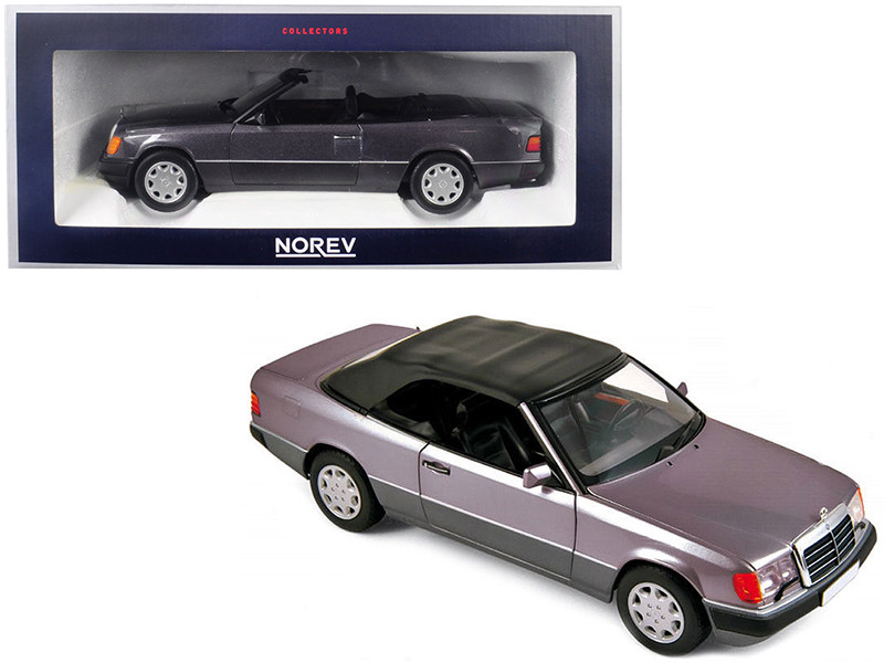 1990 Mercedes Benz 300 CE-24 Cabriolet Metallic Purple 1/18 Diecast Model Car Norev 183567