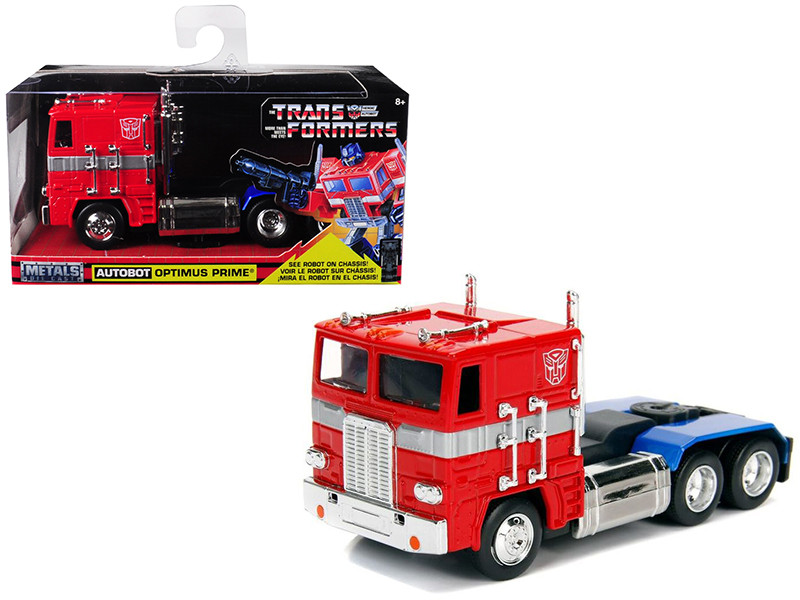 G1 Autobot Optimus Prime Truck Red Robot Chassis Transformers TV Series Hollywood Rides Series Diecast Model Jada 99477