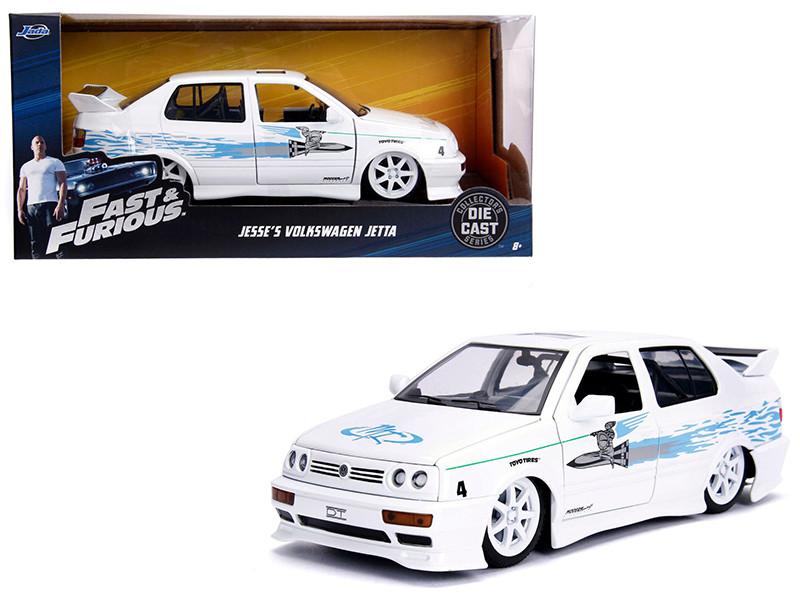 Jesse's Volkswagen Jetta White Fast Furious Movie 1/24 Diecast Model Car Jada 99591