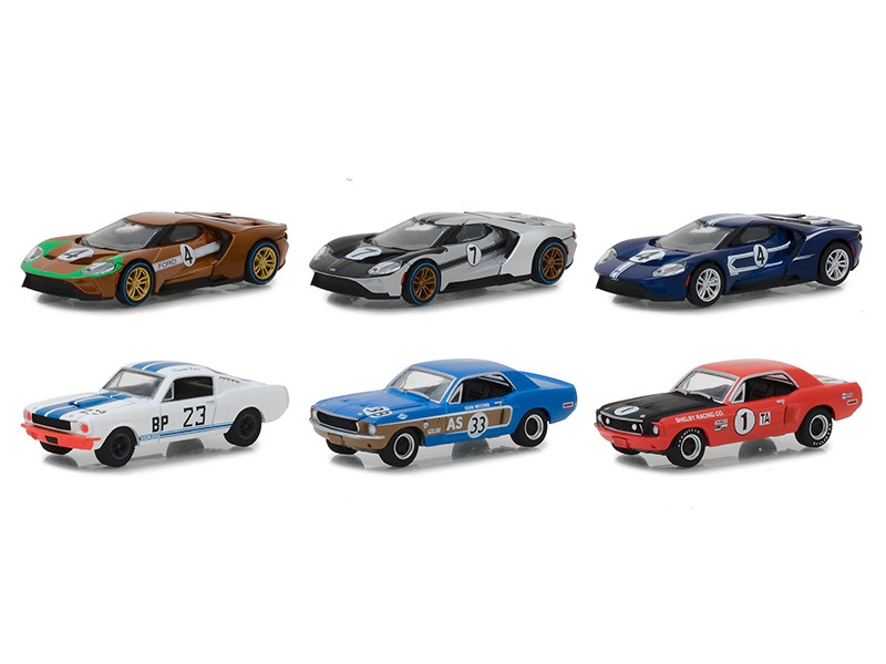 Ford Racing Heritage Series 2 Set 6 Cars 1/64 Diecast Models Greenlight 13220