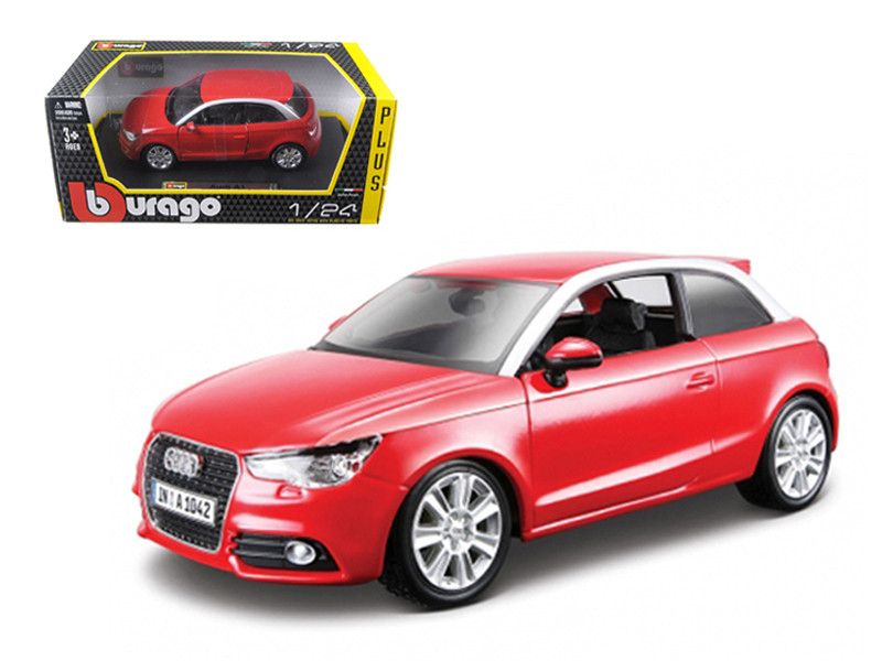 Audi A1 Red 1/24 Diecast Car Model Bburago 21058