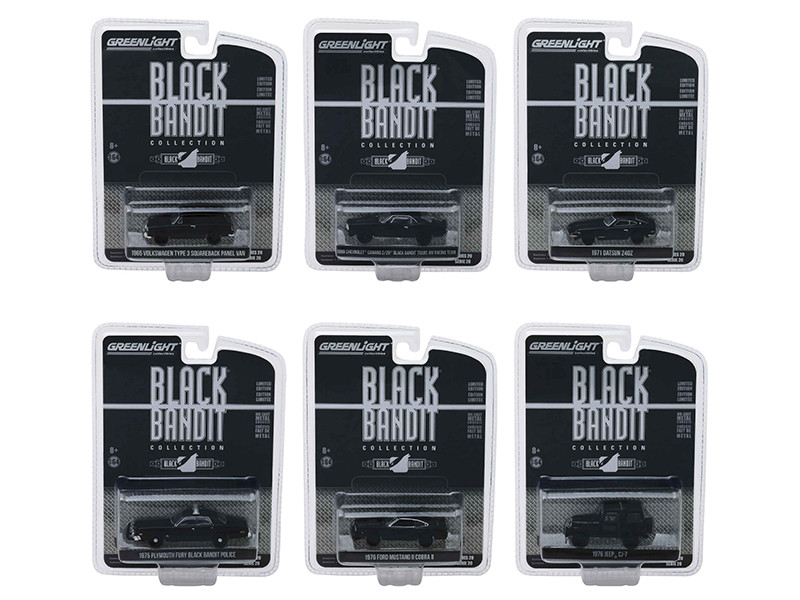 Black Bandit Series 20 Set 6 Cars 1/64 Diecast Models Greenlight 27960