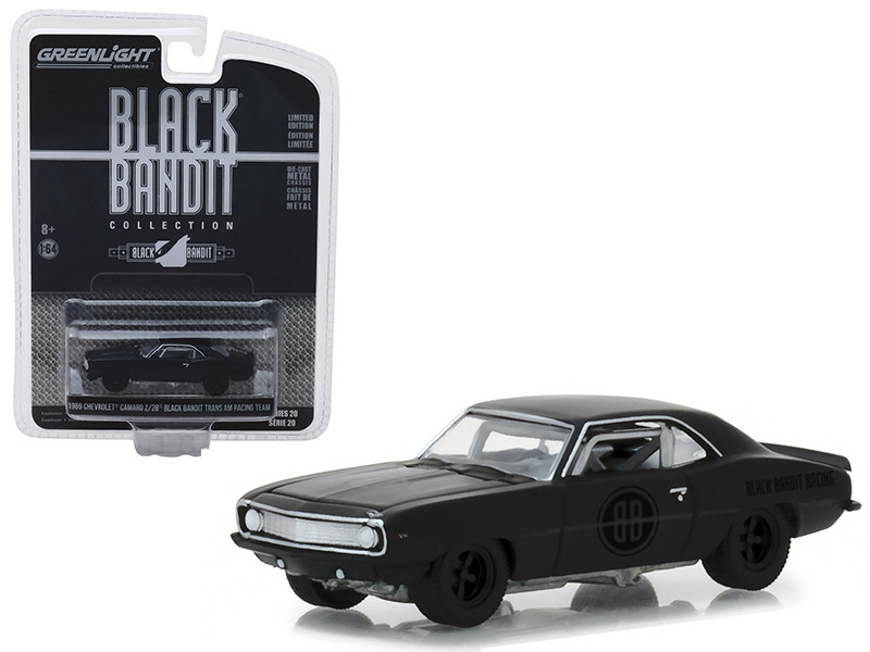 1969 Chevrolet Camaro Z/28 Black Bandit Trans Am Racing Team Black Bandit Series 20 1/43 Diecast Model Car Greenlight 27960 B