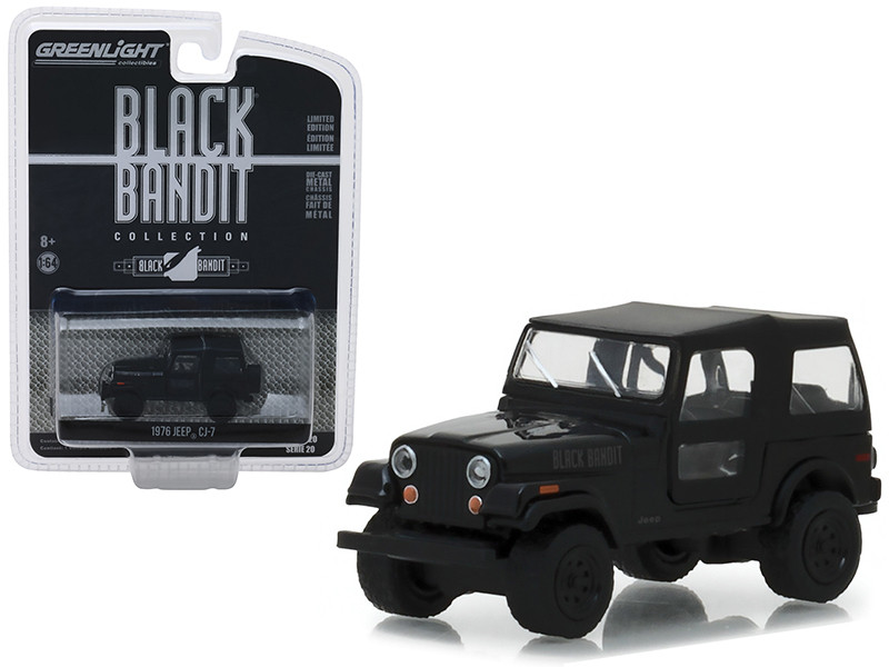 1976 Jeep CJ-7 Black Bandit Series 20 1/43 Diecast Model Car Greenlight 27960 F