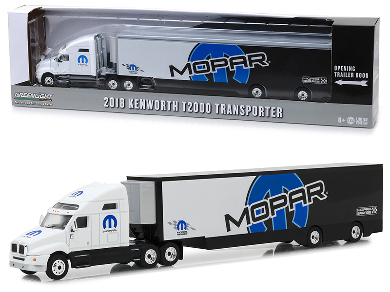 2018 Kenworth T2000 MOPAR Transporter Hobby Exclusive 1/64 Diecast Model Greenlight 29963