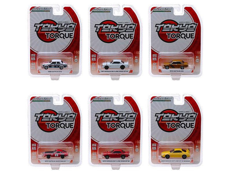 Tokyo Torque Series 4 Set 6 Cars 1/64 Diecast Model Cars Greenlight 47020