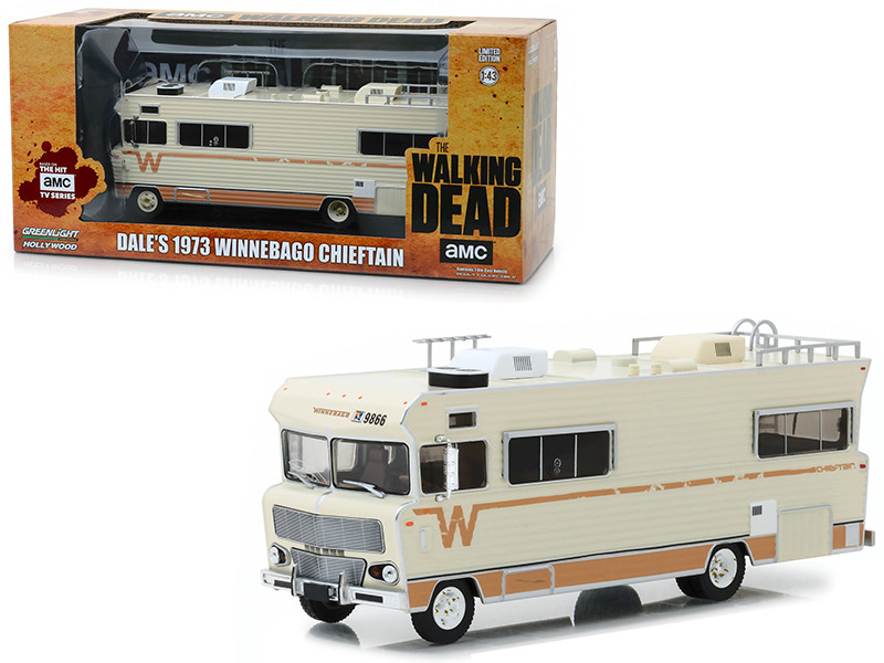 Dale's 1973 Winnebago Chieftain The Walking Dead 2010 TV Series 1/43 Diecast Model Greenlight 86543