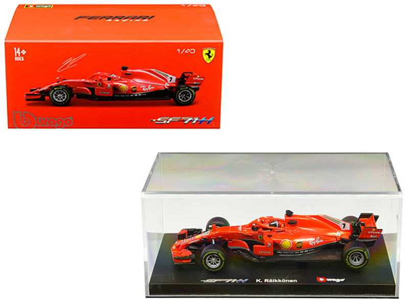 Ferrari Racing SF71H #7 Kimi Raikkonen 1/43 Diecast Model Car Bburago 36808 KR