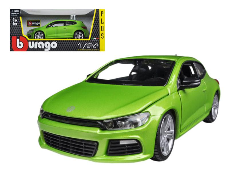 Volkswagen Scirocco R Green 1/24 Diecast Car Model by Bburago